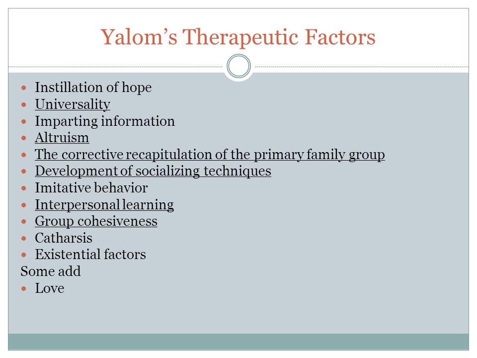 Yalom's Therapeutic Factors