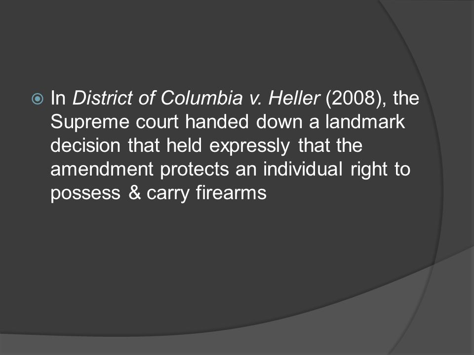 In District of Columbia v