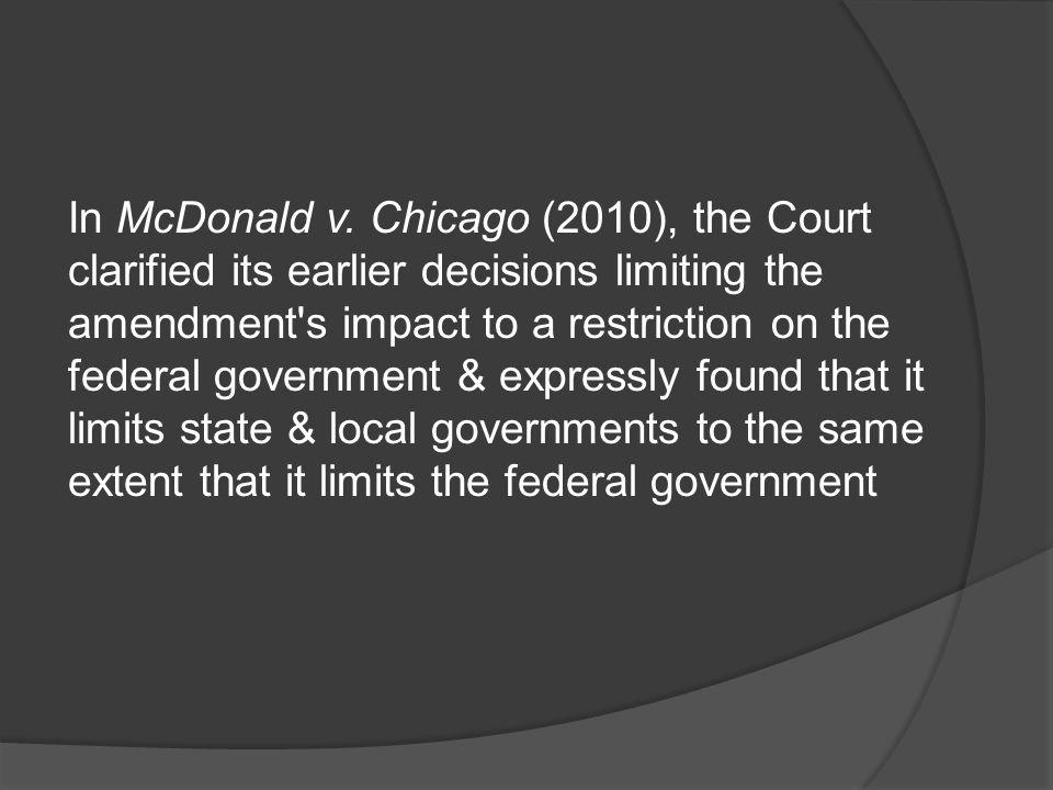 In McDonald v.