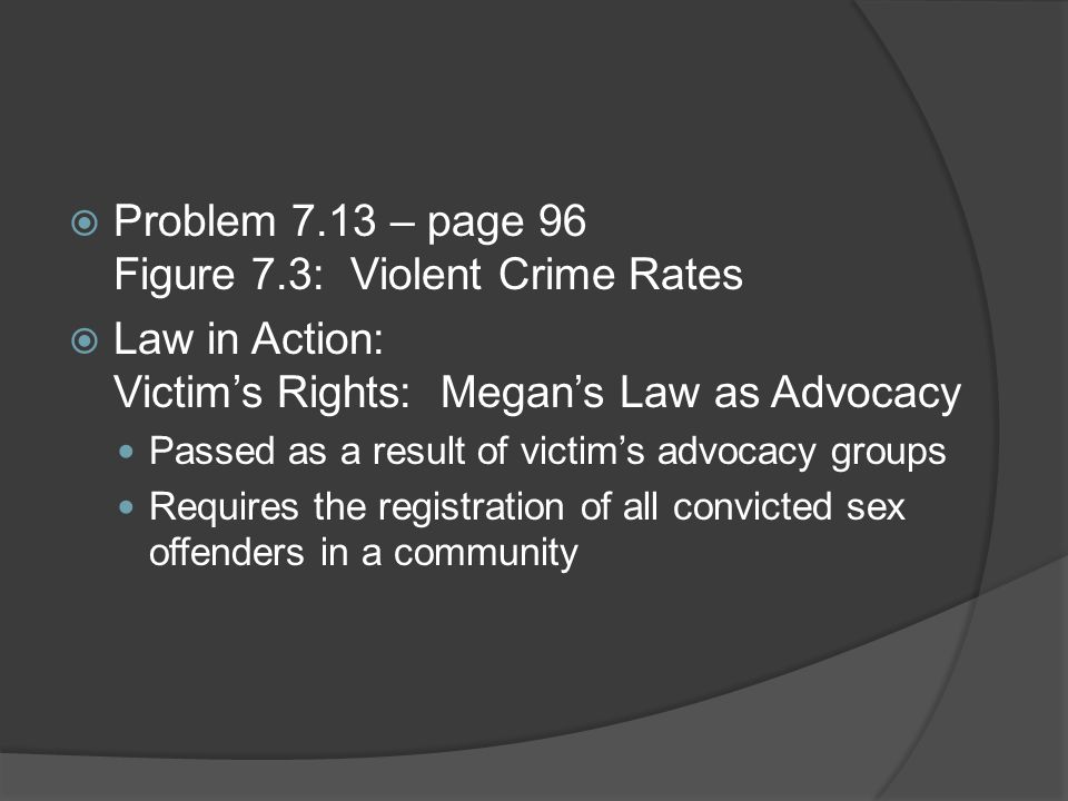 Problem 7.13 – page 96 Figure 7.3: Violent Crime Rates