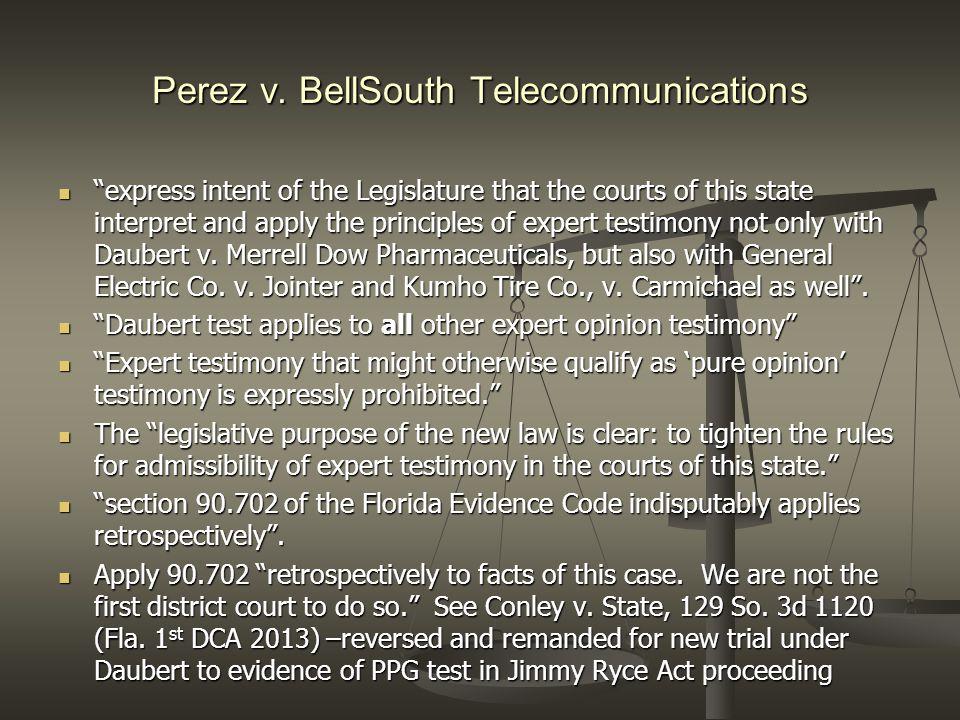 Perez v. BellSouth Telecommunications