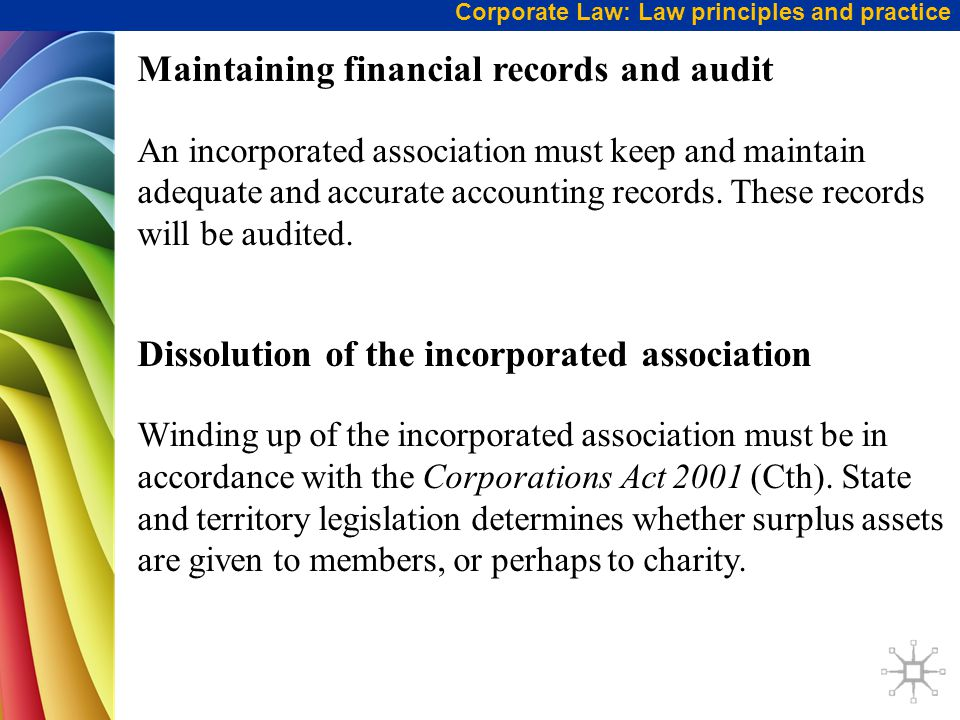 Maintaining financial records and audit