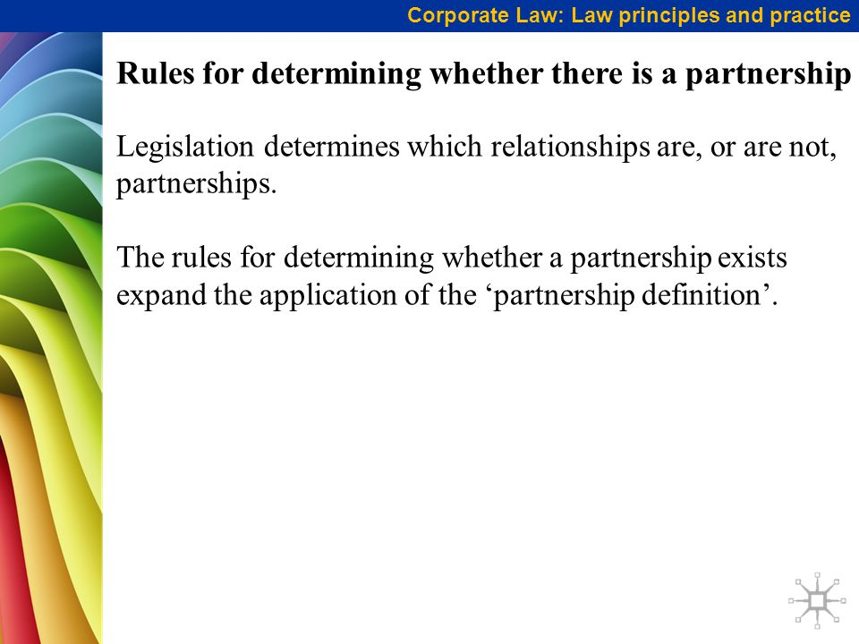 Rules for determining whether there is a partnership