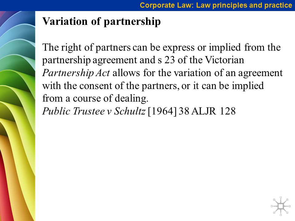 Variation of partnership