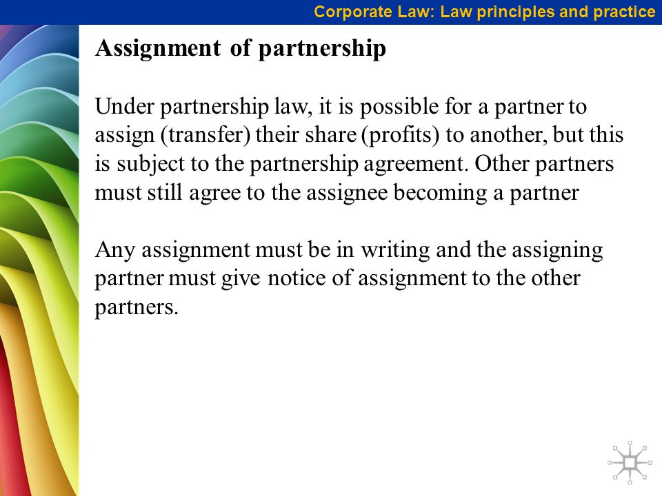 Assignment of partnership