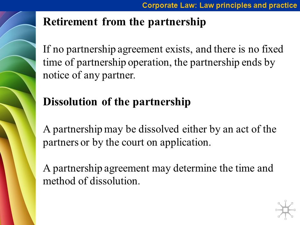 Retirement from the partnership