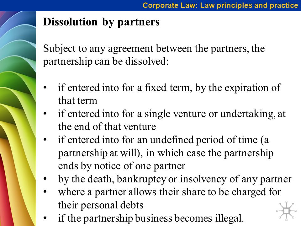 Dissolution by partners