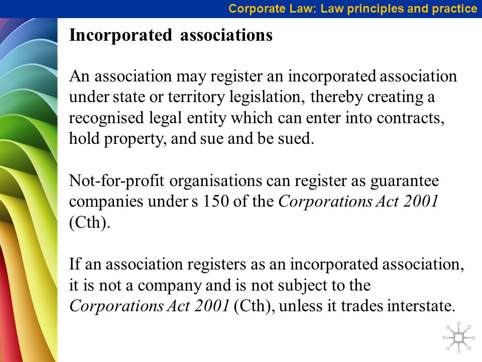 Incorporated associations