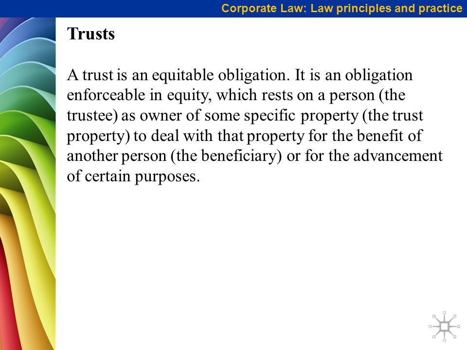 Corporate Law: Law principles and practice