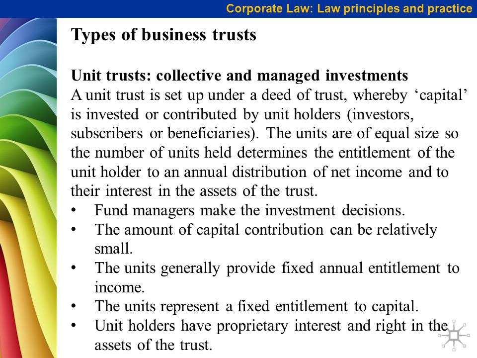 Types of business trusts