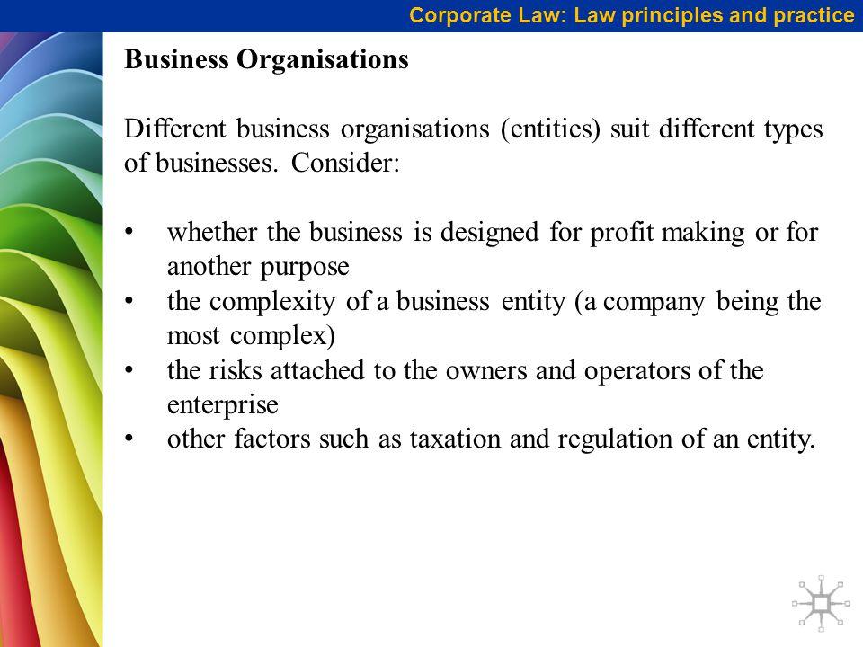 Business Organisations