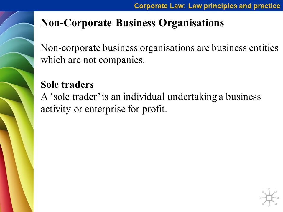 Non-Corporate Business Organisations