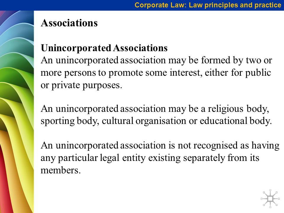 Associations Unincorporated Associations