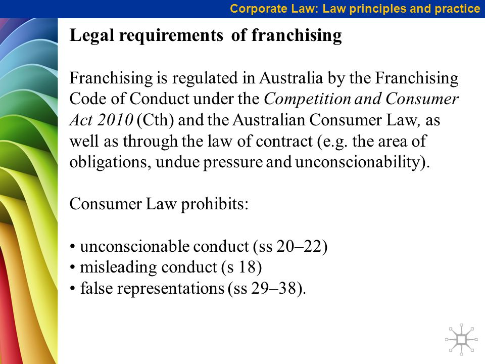 Legal requirements of franchising