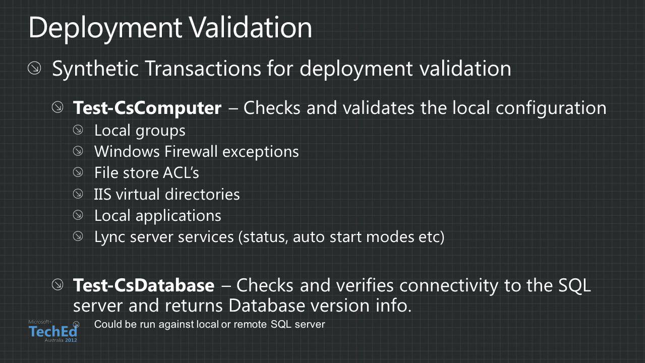 Deployment Validation