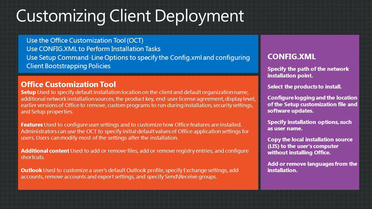 Customizing Client Deployment