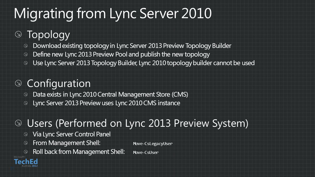 Migrating from Lync Server 2010