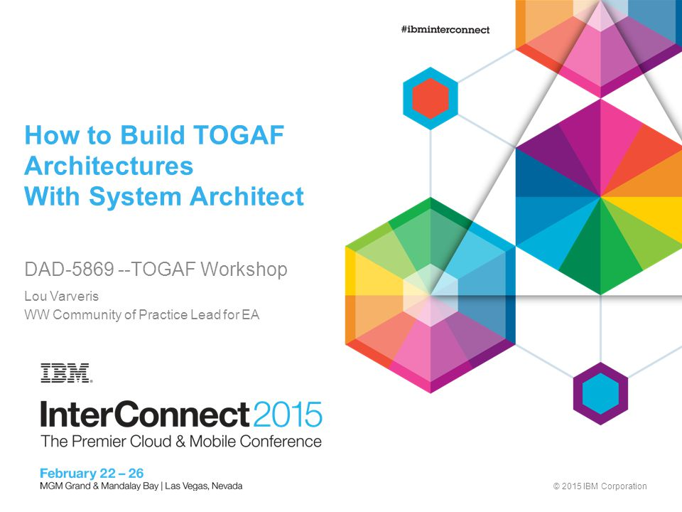 Agenda Lab Intro TOGAF Preliminary Stage Business Architecture