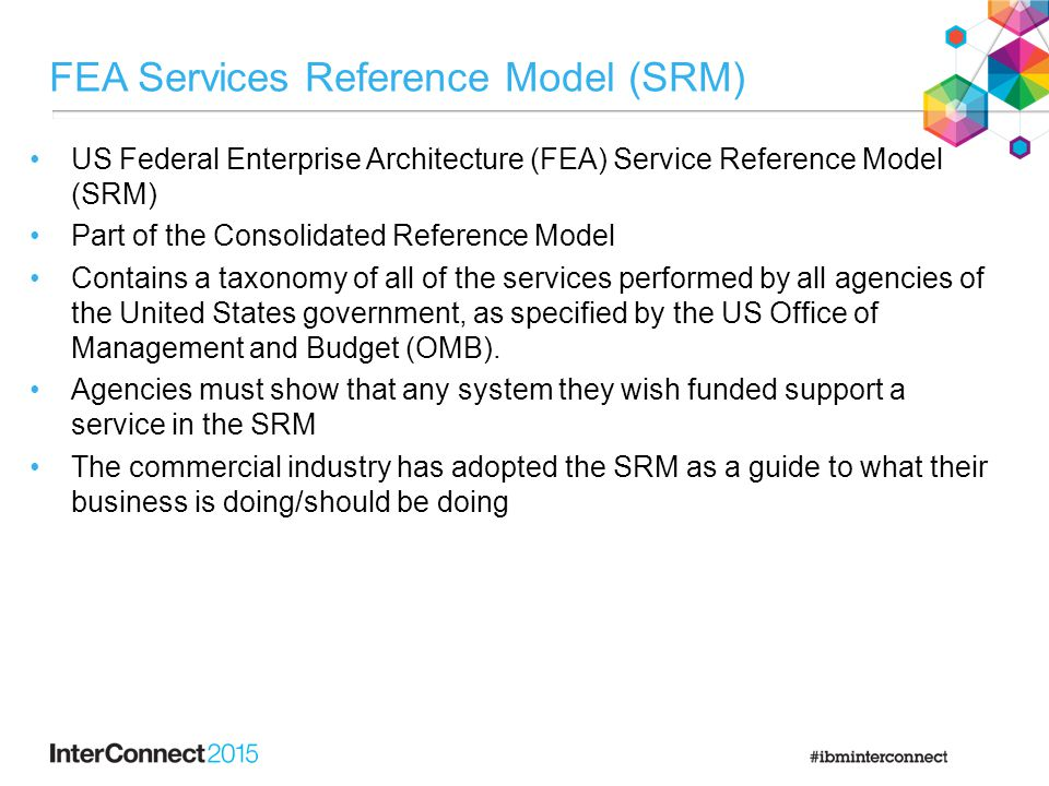 FEA Services Reference Model (SRM)