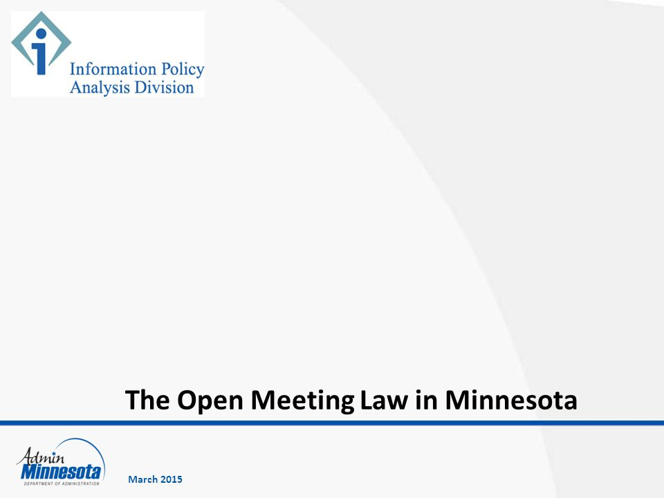 The Open Meeting Law in Minnesota