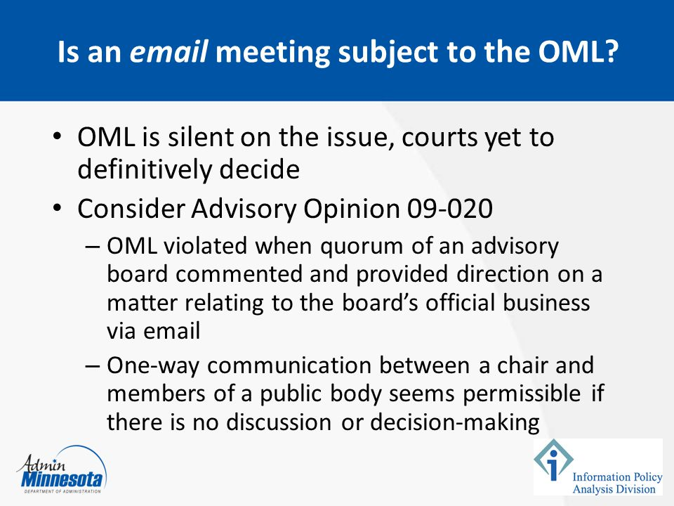 Is an email meeting subject to the OML