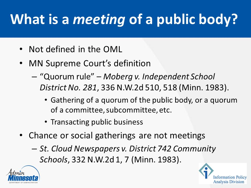 What is a meeting of a public body