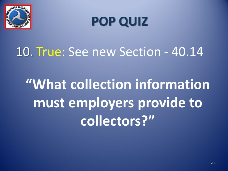 What collection information must employers provide to collectors