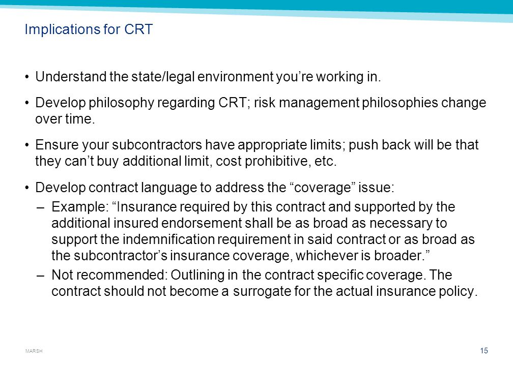 Contract Language Contract reviews Old language — red flags