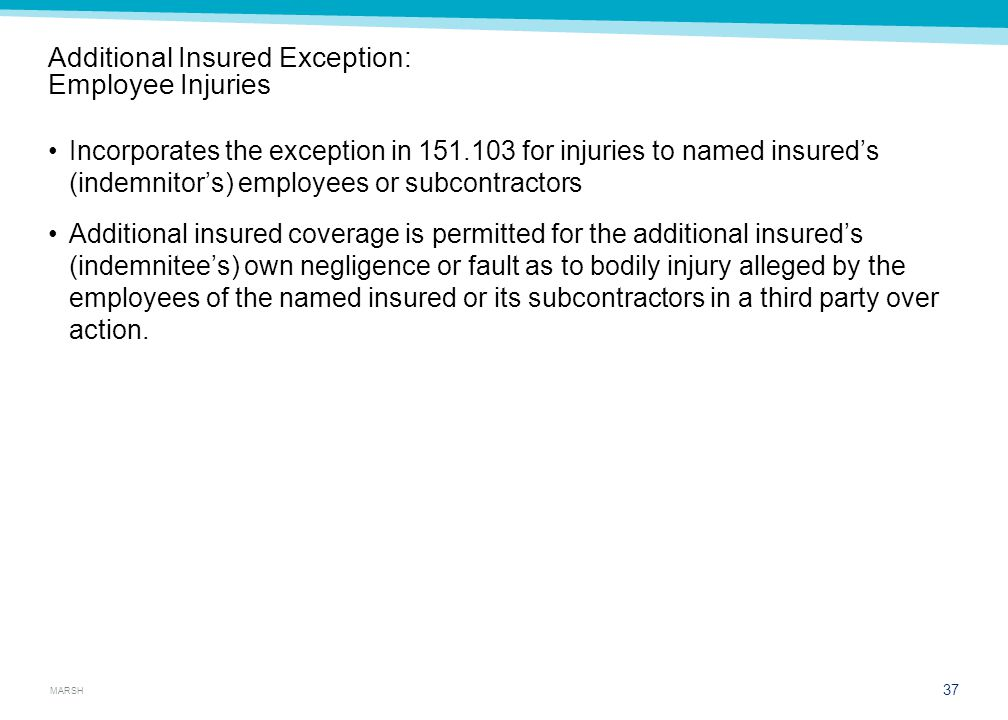 Exceptions A. Consolidated insurance programs (CIPs)