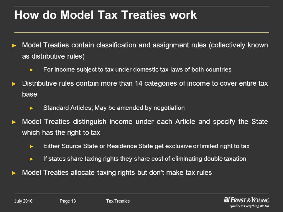 How do Model Tax Treaties work