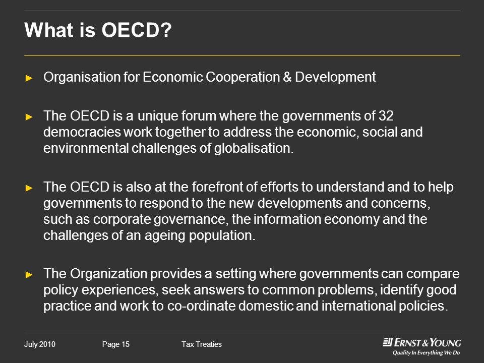 What is OECD Organisation for Economic Cooperation & Development