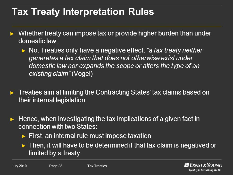 Tax Treaty Interpretation Rules