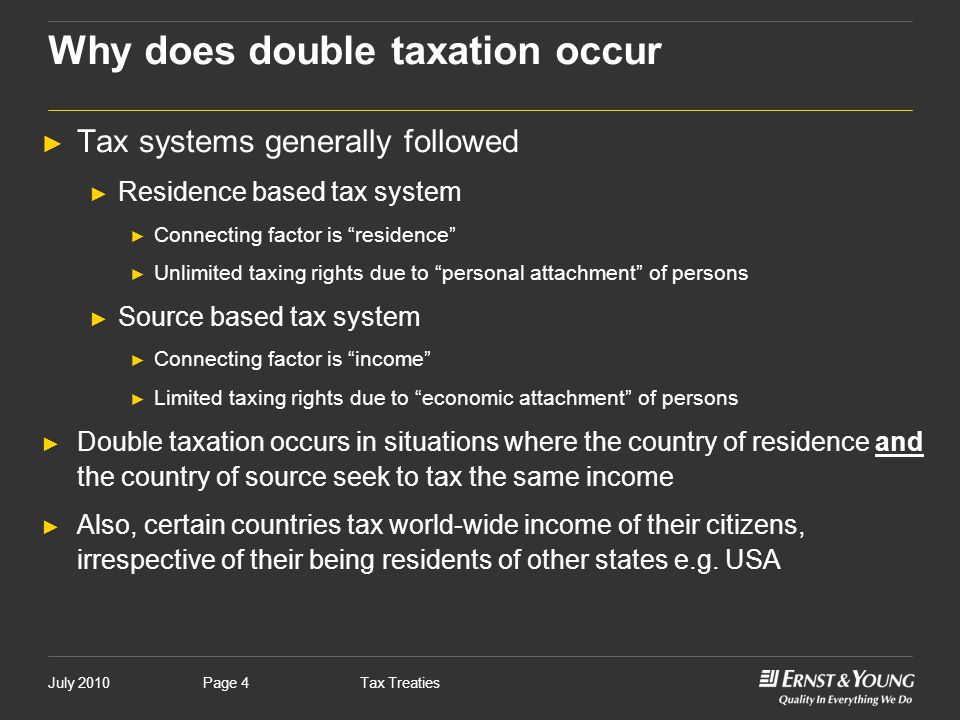 Why does double taxation occur