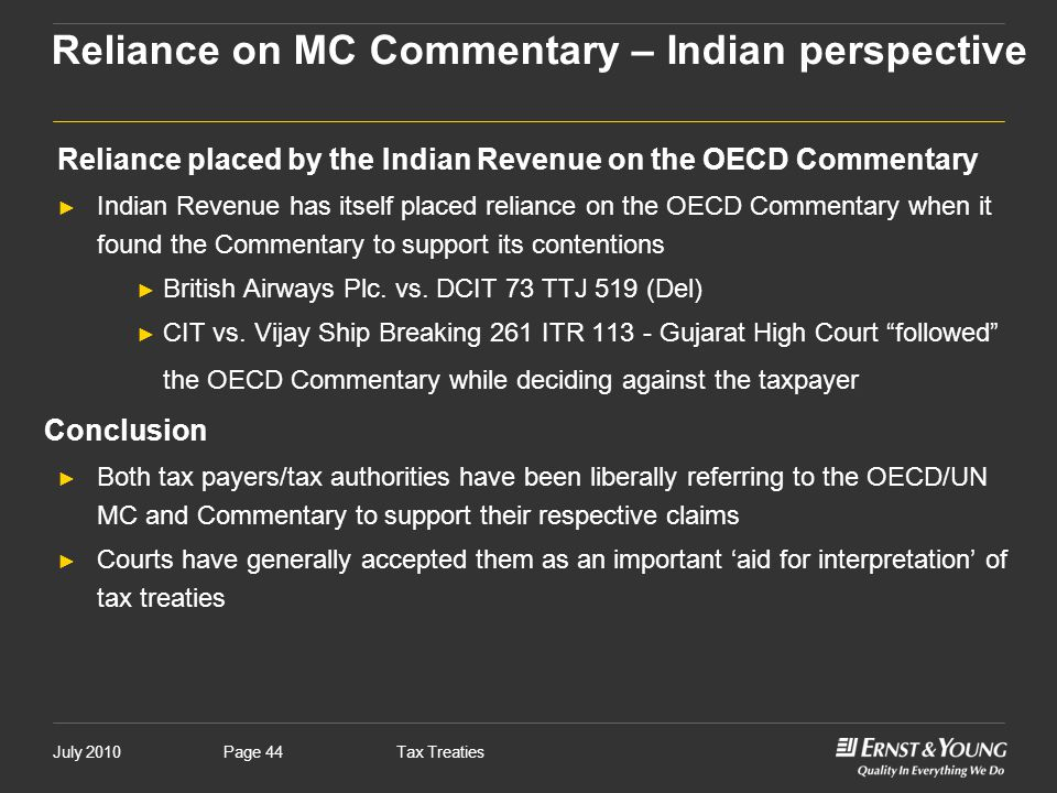 Reliance on MC Commentary – Indian perspective