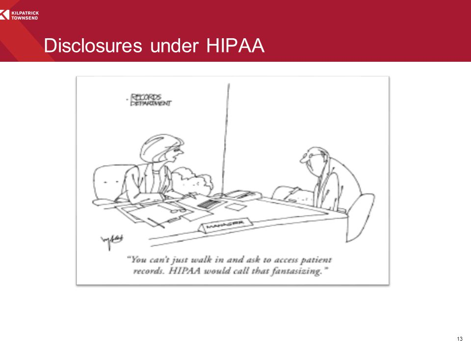 Disclosures under HIPAA