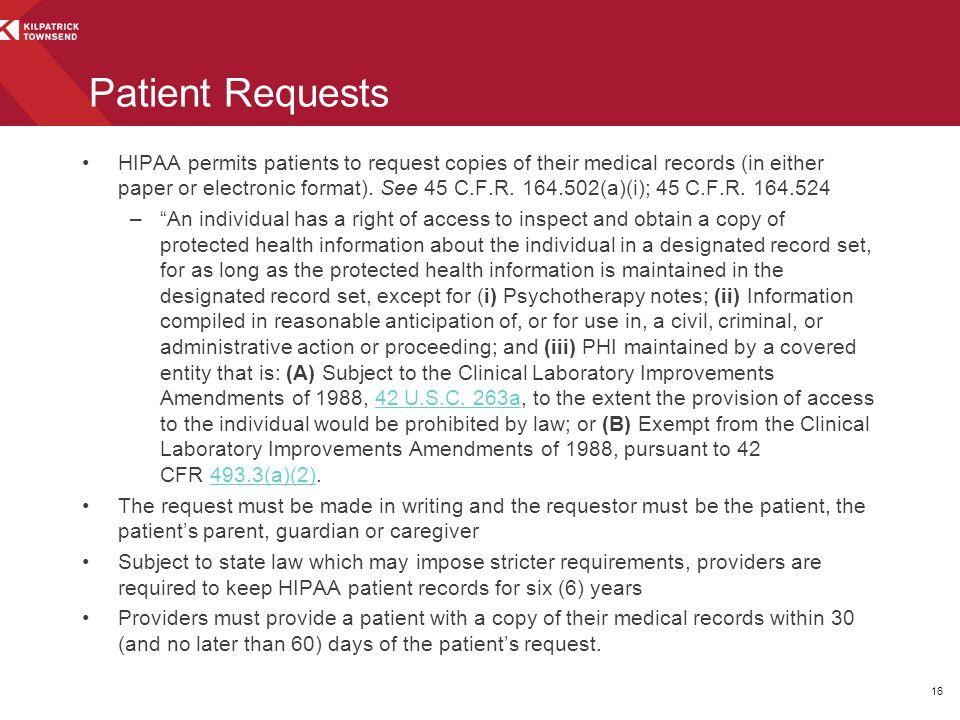 Patient Requests