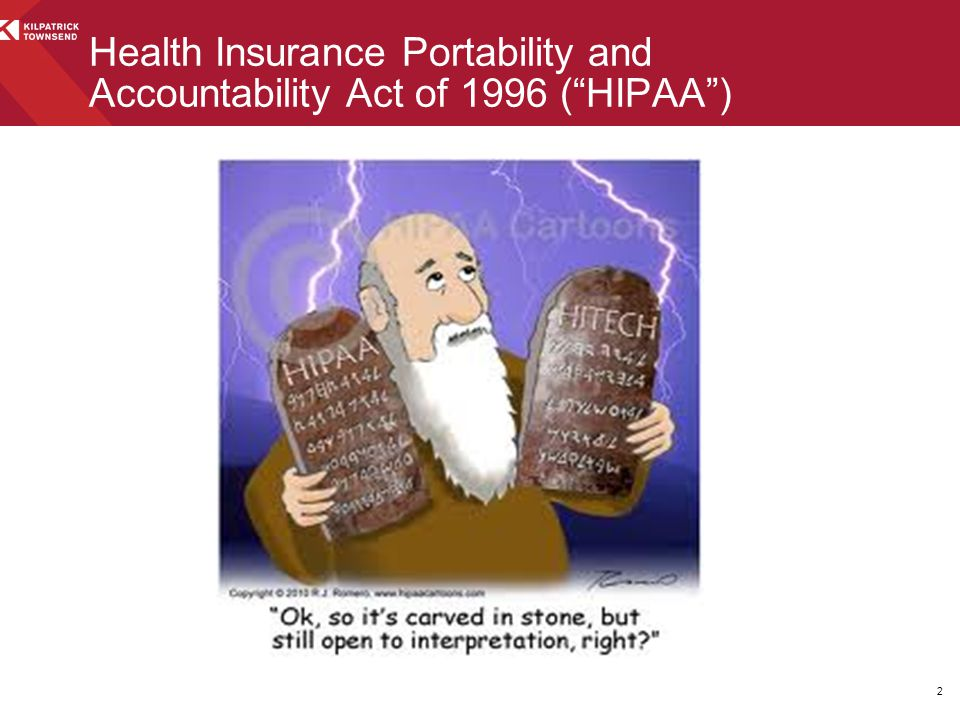 Health Insurance Portability and Accountability Act of 1996 ( HIPAA )