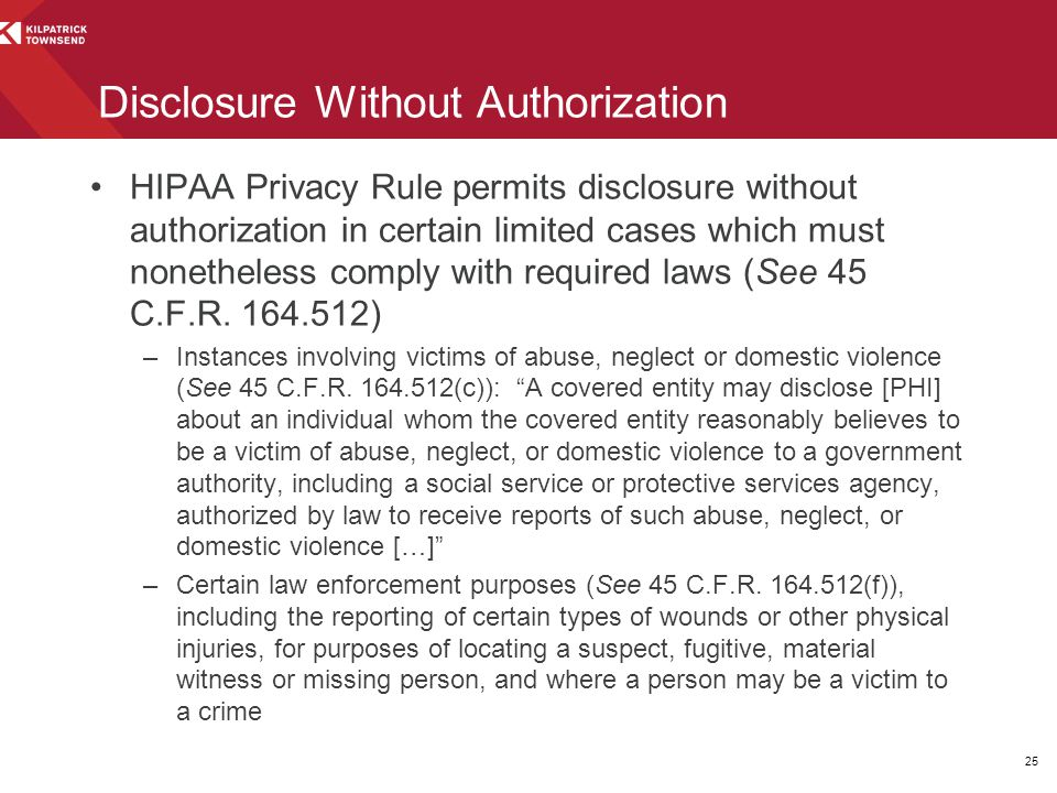 Disclosure Without Authorization