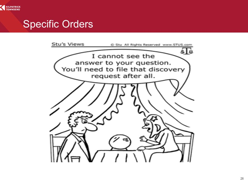 Specific Orders