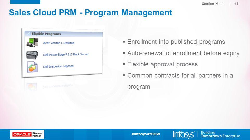 Sales Cloud PRM - Program Management