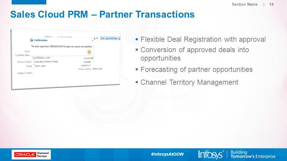 Sales Cloud PRM – Partner Transactions