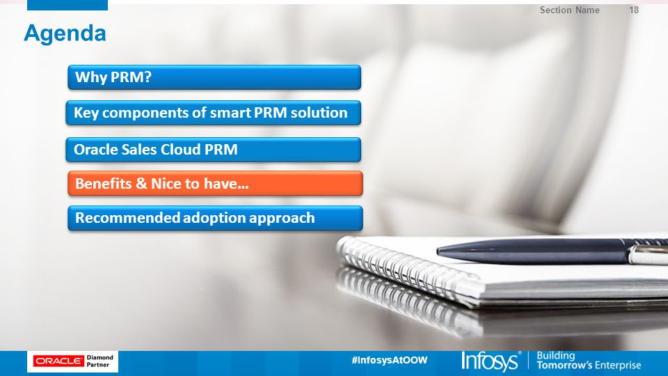 Agenda Why PRM Key components of smart PRM solution