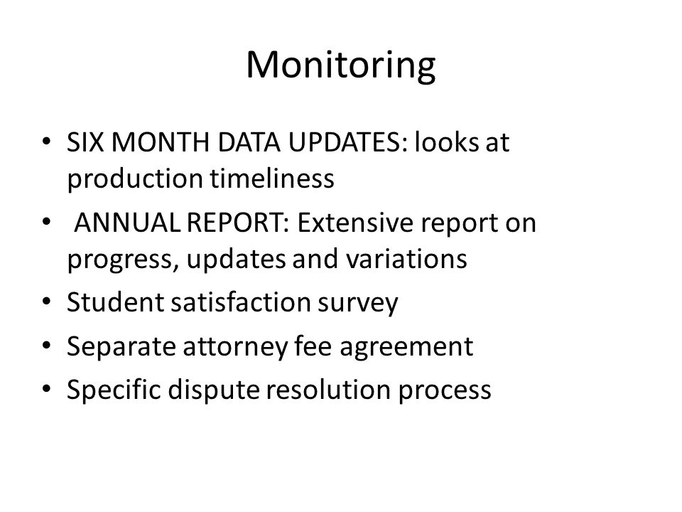 Monitoring SIX MONTH DATA UPDATES: looks at production timeliness