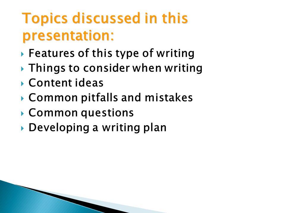 Topics discussed in this presentation: