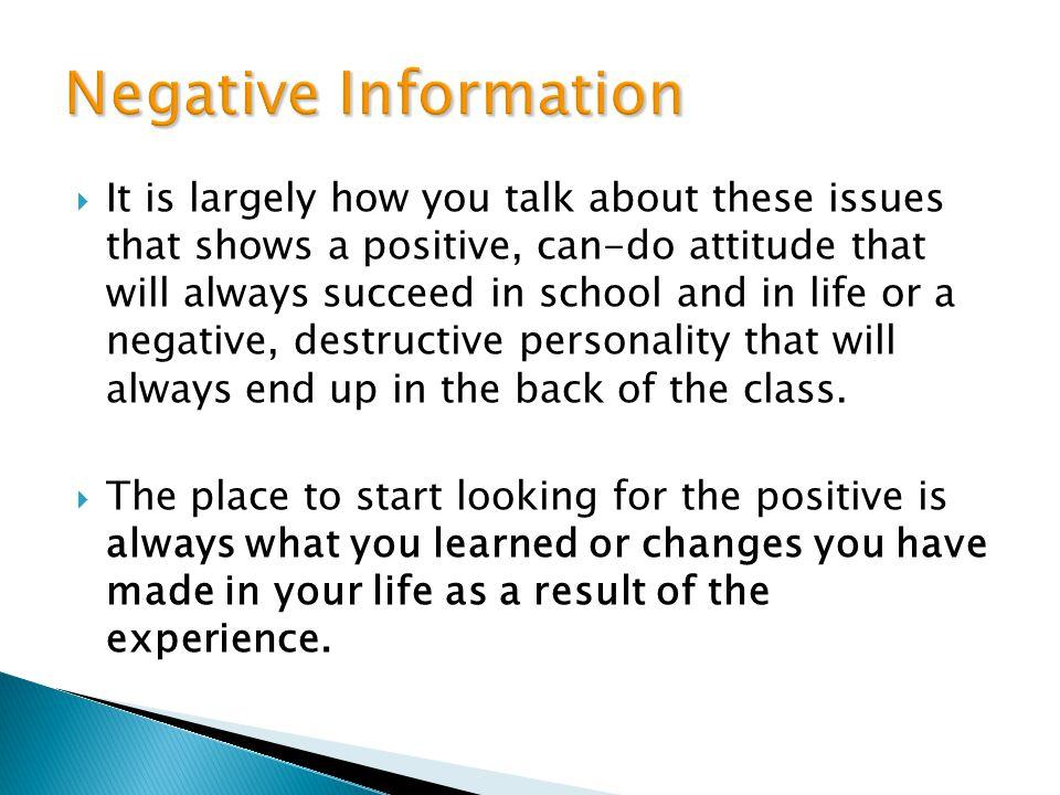 Negative Information