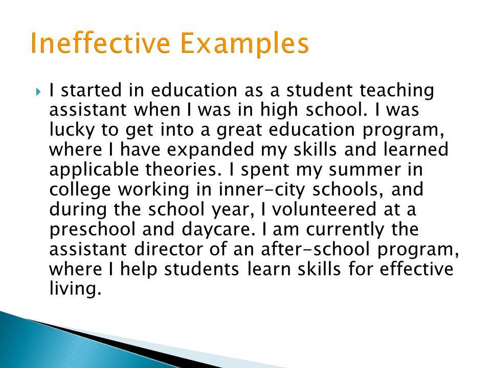 Ineffective Examples