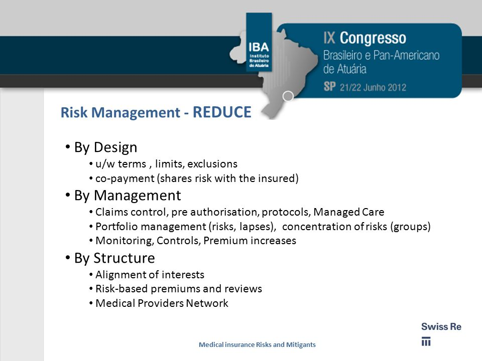 Risk Management - REDUCE