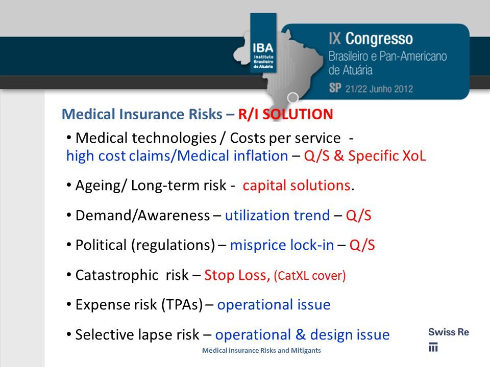 Medical Insurance Risks – R/I SOLUTION