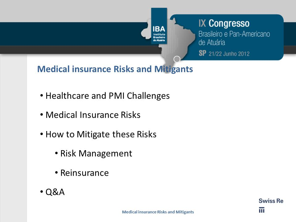 Medical insurance Risks and Mitigants