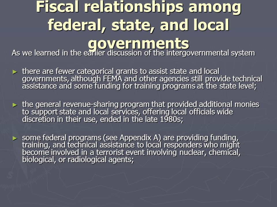 federal assistance relationship